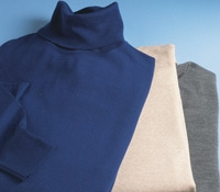 Merino Wool Roll Neck Sweaters