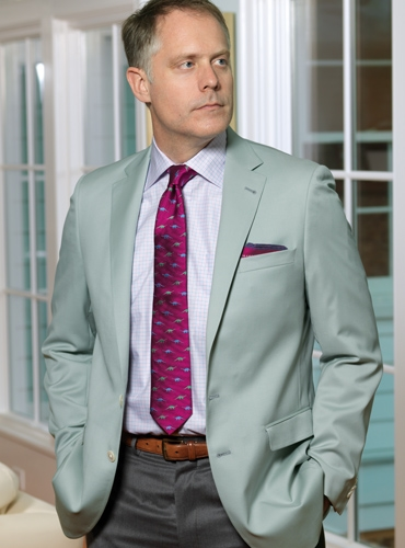 Pale Sage Tropical Wool Sport Coat
