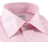 170's Pink and White Bengal Stripe Shirt