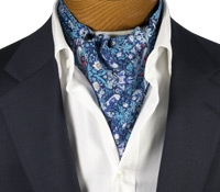 Cotton Liberty Print Ascot in Navy