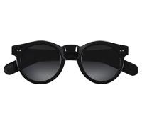 Bold Semi-Round Sunglasses in Black