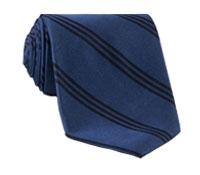 Silk Triple Strip Tie in Denim
