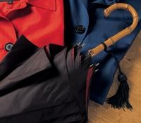 Ladies Double-faced Umbrella in Black with Red Interior