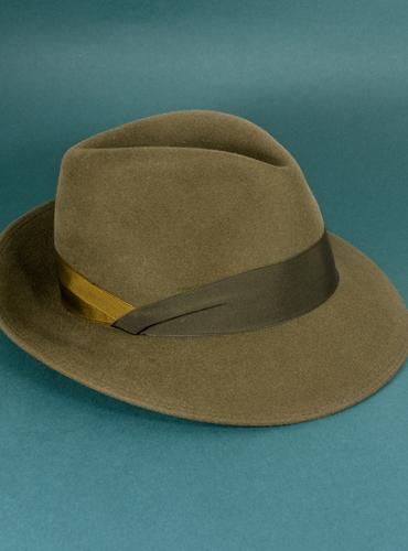 Felt Fedora Hat in Coffee