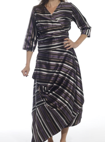 Marie Meunier Stripe Wrap Dress