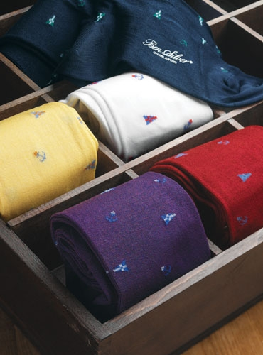 Burgee Motif Cotton Socks