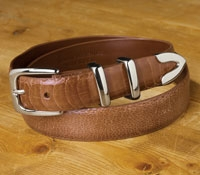 Ostrich Leg Belt with Tipset