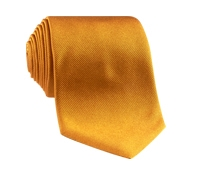 Silk Solid Signature Tie in Golden