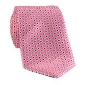 Silk Print Small Diamond Tie in Strawberry