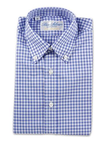 Boys Blue Gingham Shirt