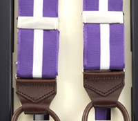 Single Stripe Braces in Lilac