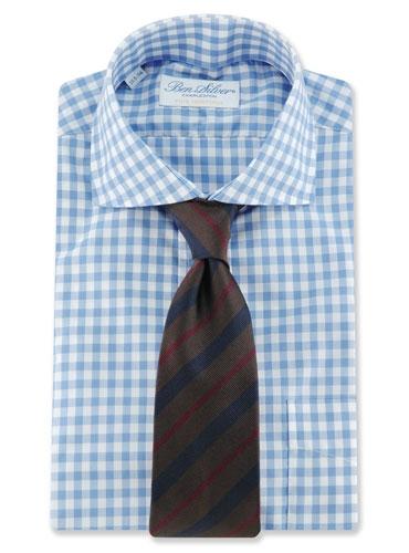 Woven Stripe Tie in Brown