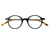 Deep P3 Frame in Matte Black with Gold Finish Metal Temples