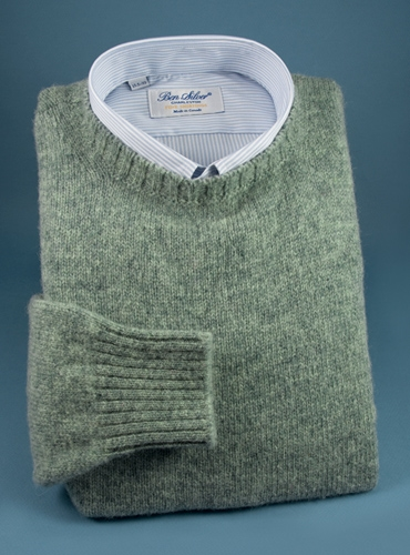 Shetland Crewneck Sweater in Laurel