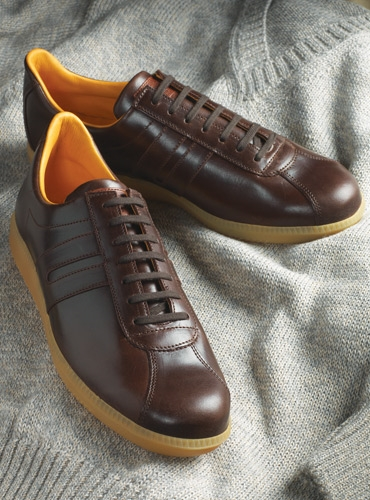The Leather Sneaker in Brown