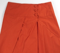 Marie Meunier Cotton Croisée Skirt in Orange