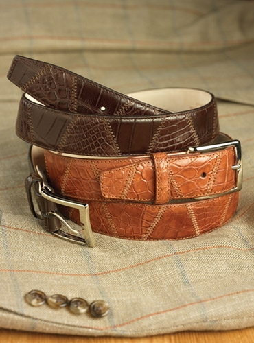 Matte Exotic Patchwork Belts