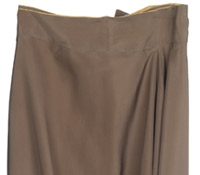 Marie Meunier Reversible Draped Silk Skirt in Vanilla and Mocha