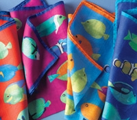 Cotton and Silk Fish Motif Pocket Squares