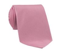 Woven Silk Solid Tie in Blush