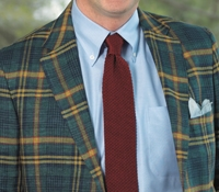 Classic Plaid Sport Coat in Tartan and Field Green with Gold and Navy