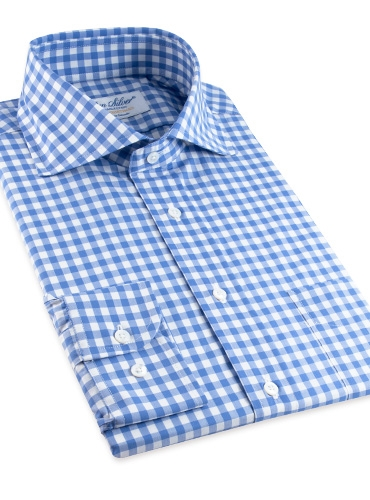 Light Blue Gingham Cutaway