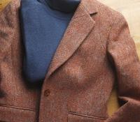 Red Birdseye Tweed Jacket