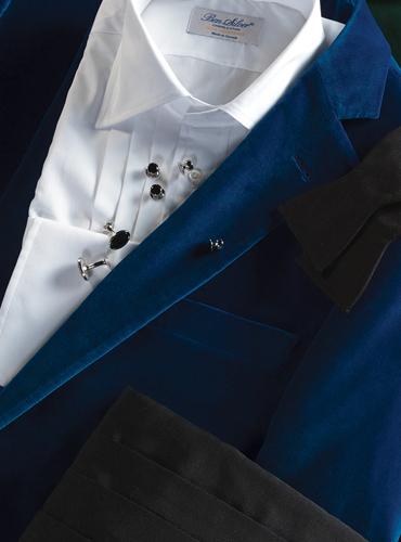 Azure Velvet Dinner Jacket