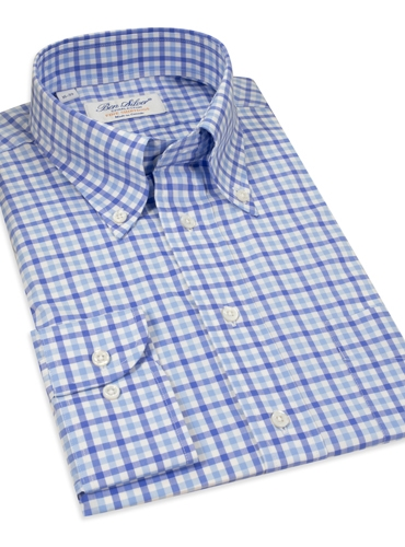 Traditional Check Blue/Blue Button Down