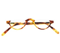 Semi-rimless Half-moon Reader in Paris Tortoise