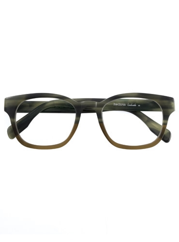 Bold Semi-Square Frame in Olive and Taupe