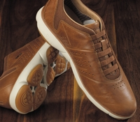 The Geox Leather Sneaker in Cognac