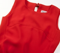 Ladies Sleeveless Shift Dress in Cornelian Red