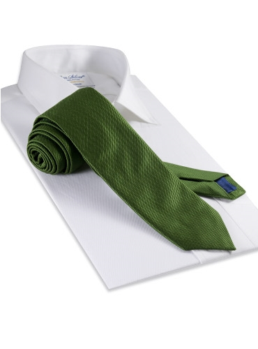 Mogador Silk Solid Signature Tie in Leaf
