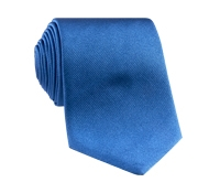 Silk Solid Signature Tie in Cobalt
