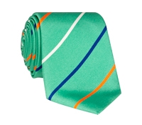 Silk Triple Stripe Tie in Mint