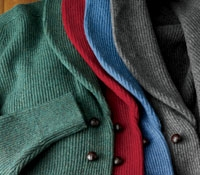 Lambswool Shawl Collar Cardigan