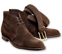 Brown Suede Unlined Chukka Boots