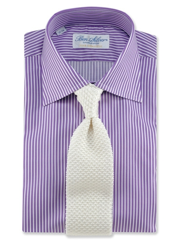 Classic Silk Knit Tie in Ivory