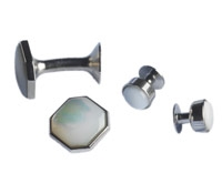 Mother of Pearl Octagon Formal Wear Set