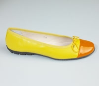 Contrast Toe Yellow/Orange Flats