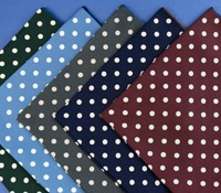 Silk Print Dotted Pocket Square