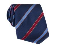 Silk Multi-Color Bar Stripe Tie in Navy