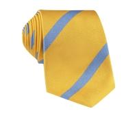 Silk Bar Stripe Tie in Lemon with Sky