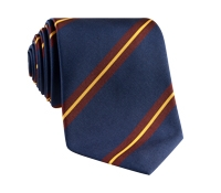 Mogador Silk Striped Tie in Navy