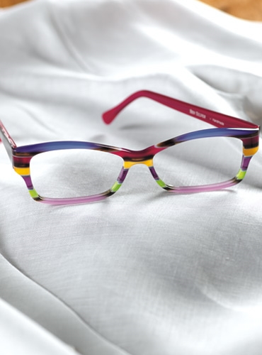 Multi-Colored Handmade Frame in Lilac and Magenta