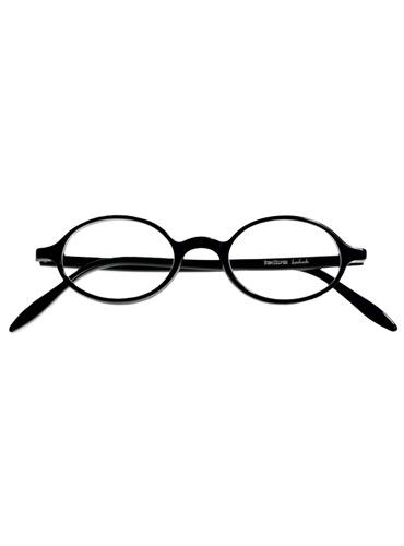 Silver Line Oval Frame in Black