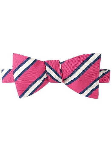 Mogador Striped Bow Tie in Magenta