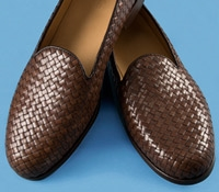 Nettleton Woven Slip-On in Brown, Size 10