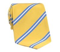 Mogador Silk Stripe Tie in Lemon